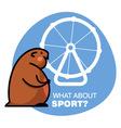 Fat hamster vector
