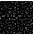 Black and white summer seamless pattern vector