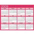 Calendar for 2009 vector