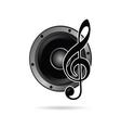 Treble clef with speaker icon vector