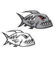 Piranha fish vector