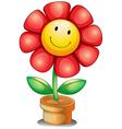 A flower inside a pot vector