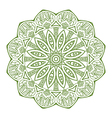 Round ornament in green color vector