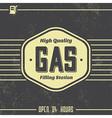 Vintage gasoline sign retro template vector