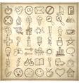 49 hand draw web icon design elements vector