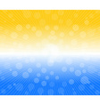 Hot sun lights abstract summer background vector