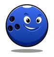Happy colourful blue cartoon bowling ball vector