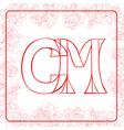 Cm monogram vector