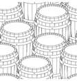 Barrel and cup seamless background vector