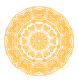 Round ornament in yellow color vector