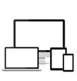 Popular full responsive web design electronic devi vector
