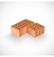 Brick and a half of it realistic template vector