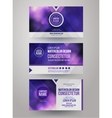 Identity templates with blurred abstract vector