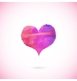 Pink painted heart vector