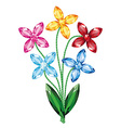 Bouquet of flowers of the gemstones isolated vector