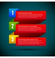 Infographic with ribbons and colored numbers vector