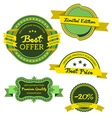 Collection of premium labels vector