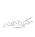 Abstract crocodile vector