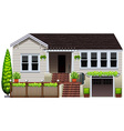 A house with plants vector
