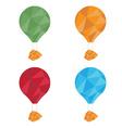Air balloons set polygon art vector