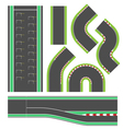 Formula race track line set vector