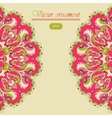 Beautiful pink arabesque lace pattern background vector