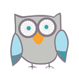Cute owl bird vector
