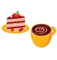 Coffee cake vector