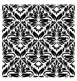 White and black seamless pattern vector
