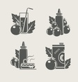 Tomato products set icons vector