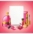 Paper cosmetics vector