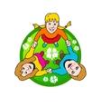 Family circle sign vector
