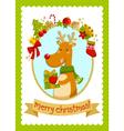 Christmas deer stock small vector