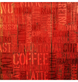 Coffee experience words on red vector