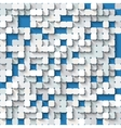 Abstract white and blue background with mosaic vector