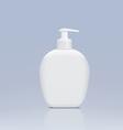 Plastic bottle with a dispenser for liquid soap vector