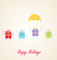 Happy gifts presents waving and being excited vector