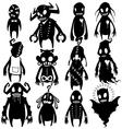 Little monsters set 03 vector