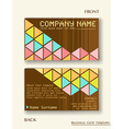 A business card layout vector
