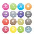 Button icons vector