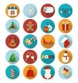 Christmas flat icons set vector