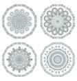 Retro round mosaic vector