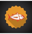 Summer travel sea fish flat icon vector