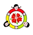 Family circle around the flower sign vector