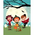 Children on halloween party vector