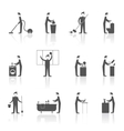 Cleaning people set vector
