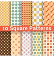 Different square seamless patterns tiling vector