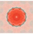 Round orange frame for text vector