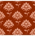 Oriental floral seamless pattern on titian vector