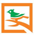 Analysis bird logo template vector
